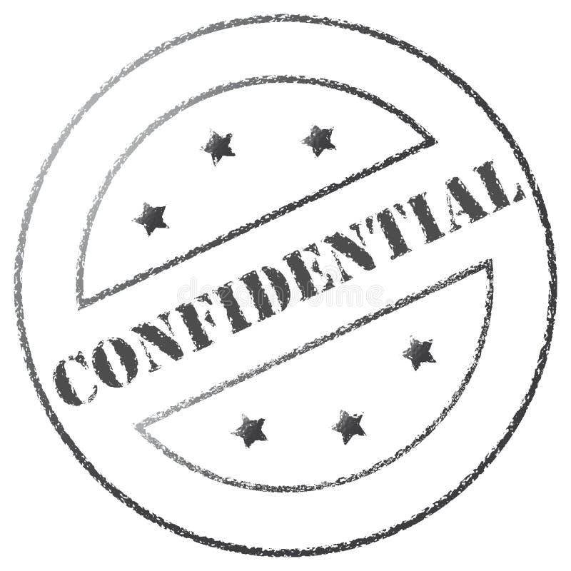 Sello confidencial stock de ilustración