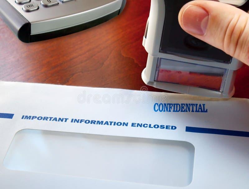 Sello confidencial fotografía de archivo