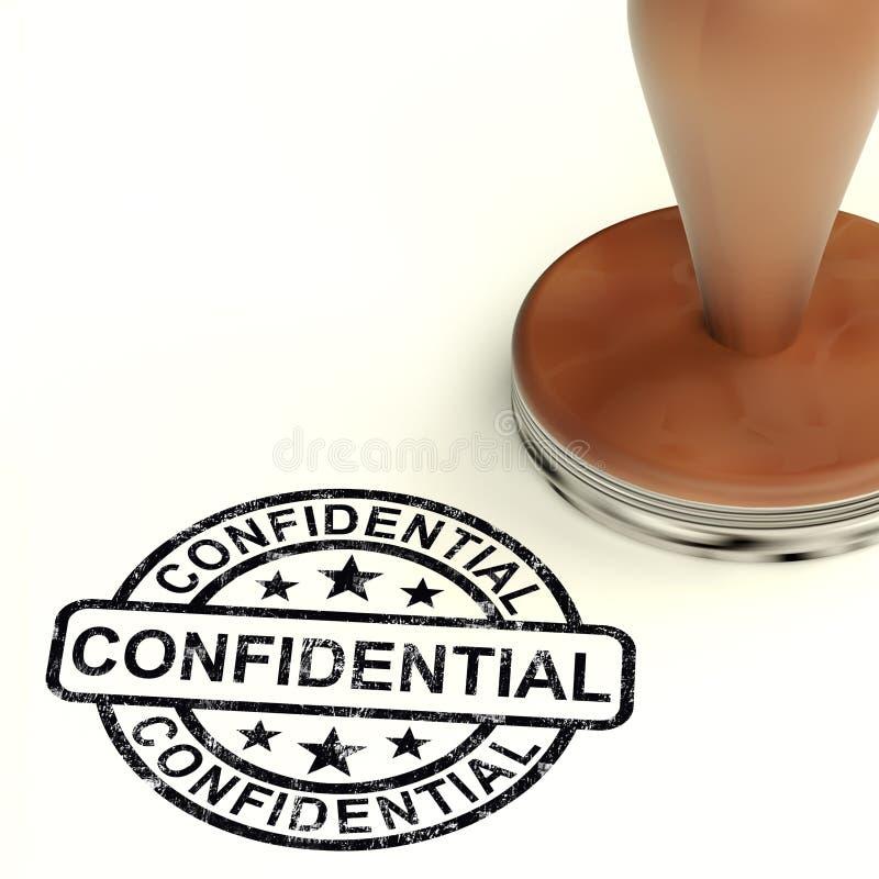 Sello confidencial que muestra correspondencia privada o documentos libre illustration