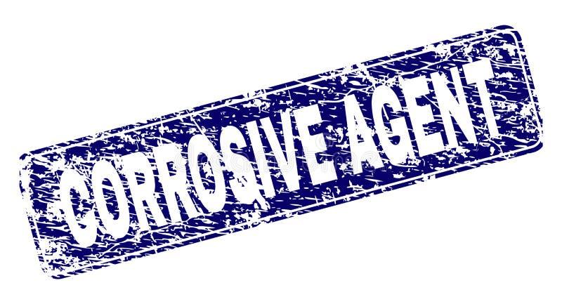 Sello CORROSIVO de Framed Rounded Rectangle del AGENTE del Grunge ilustración del vector