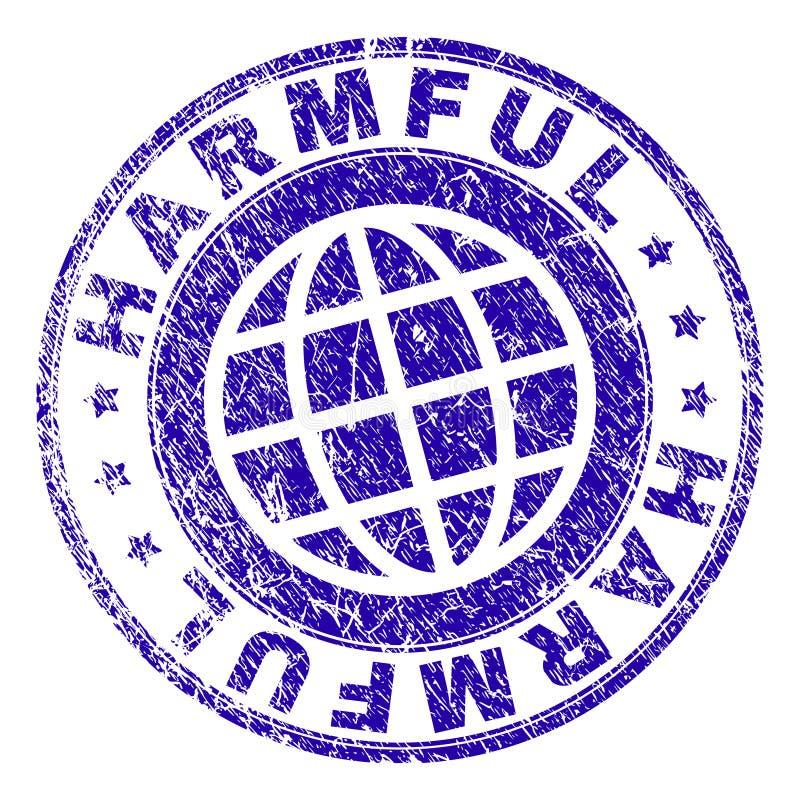 Sello DAÑINO texturizado rasguñado del sello libre illustration