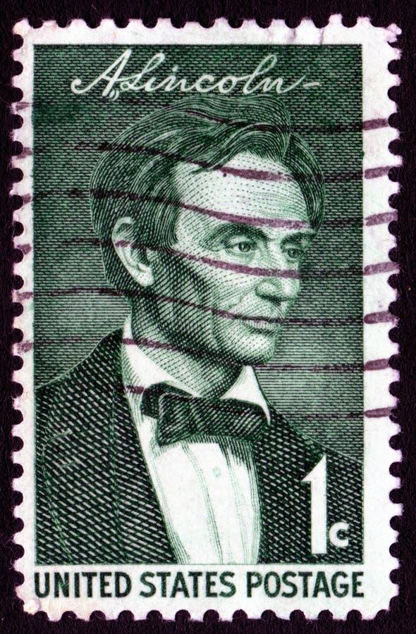 Sello de Abraham Lincoln de la vendimia foto de archivo libre de regalías