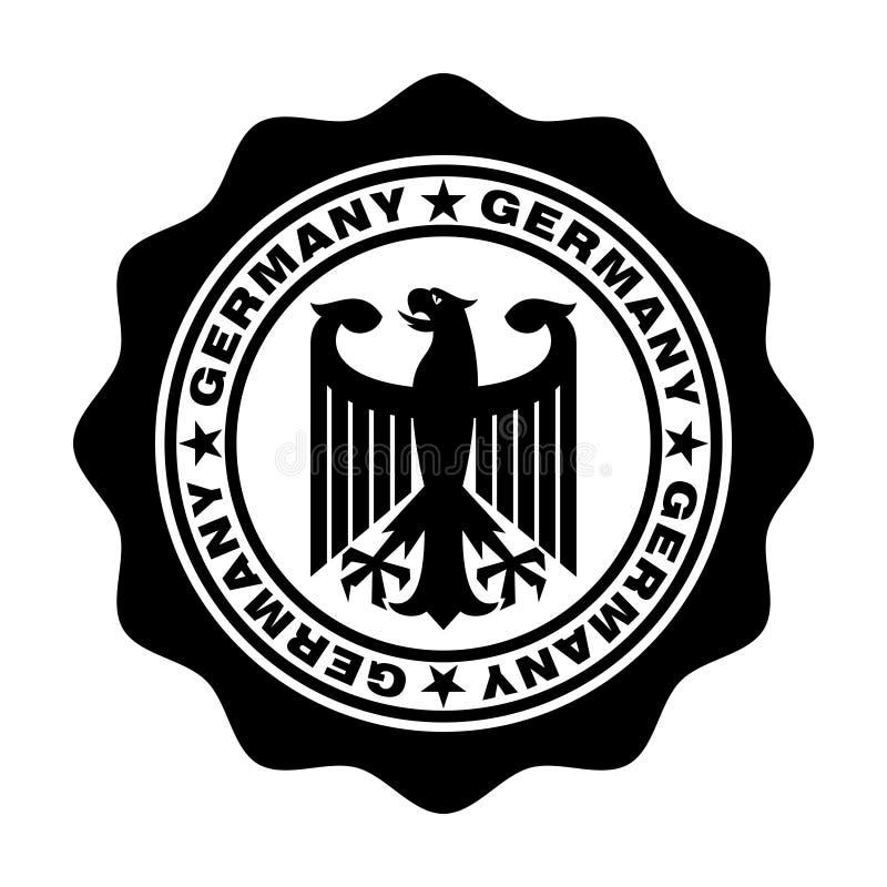 Sello de Alemania con el águila ilustración del vector