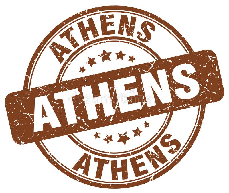 Sello de Atenas ilustración del vector