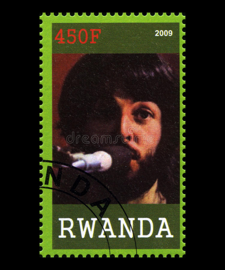Sello de Beatles de Rwanda foto de archivo