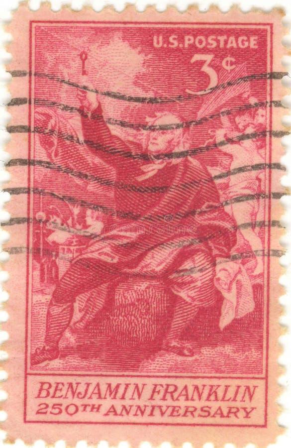 Sello de Benjamin Franklin foto de archivo libre de regalías