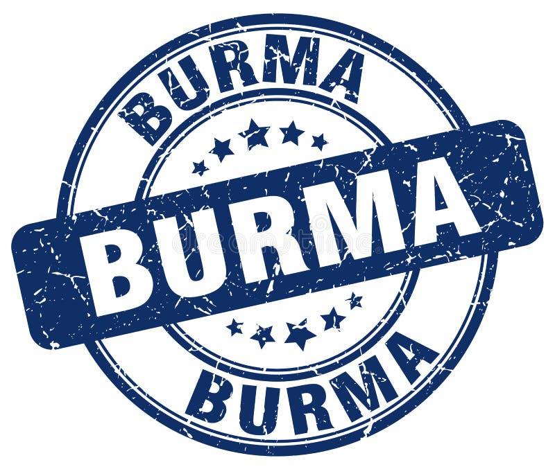 Sello de Birmania stock de ilustración