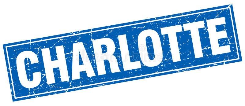 Sello de Charlotte ilustración del vector