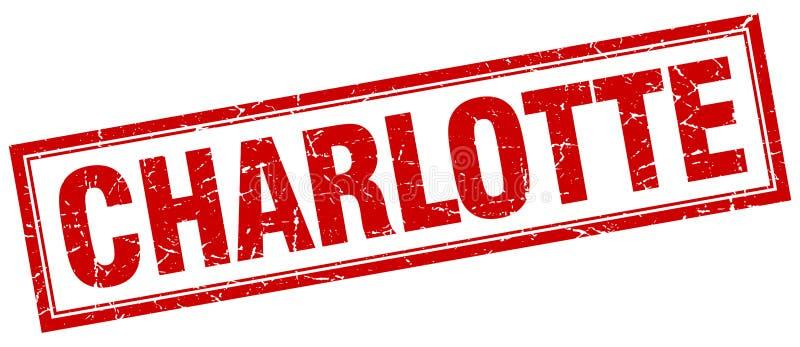 Sello de Charlotte stock de ilustración