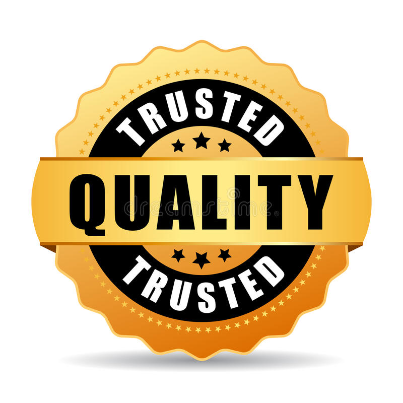 Sello de confianza del vector del oro de la calidad libre illustration