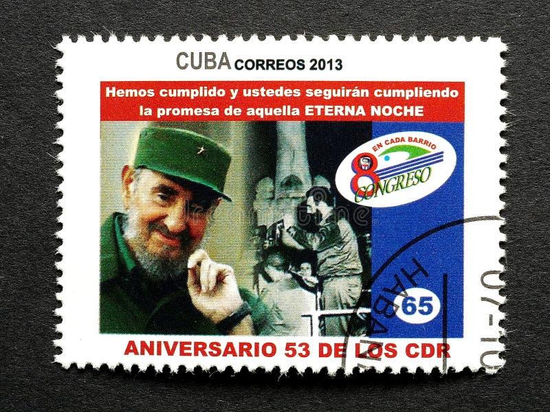 Sello de Fidel Castro fotografía de archivo libre de regalías
