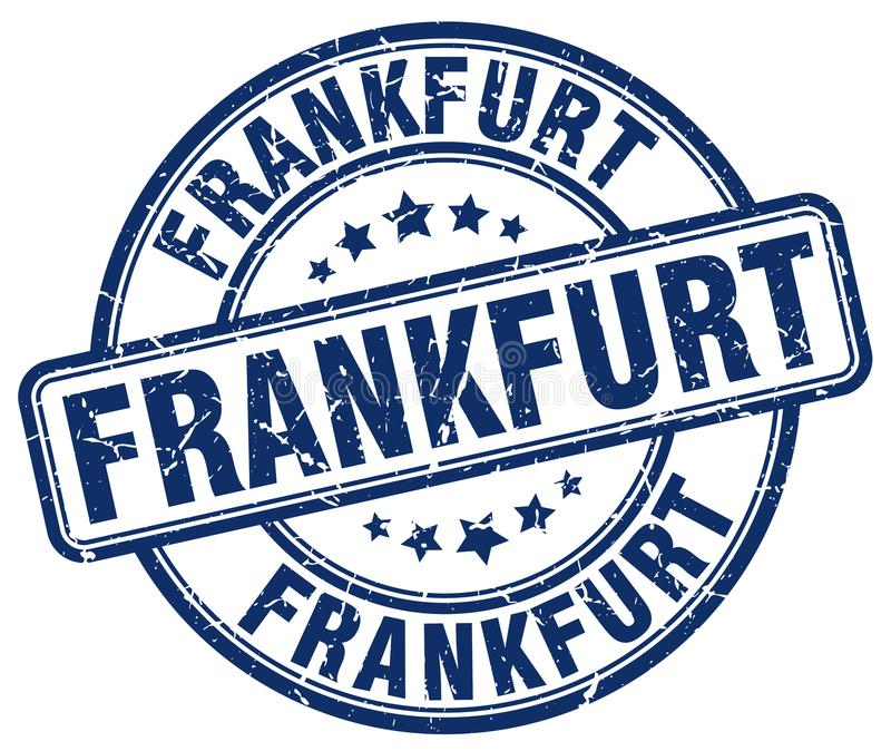 Sello de Francfort ilustración del vector