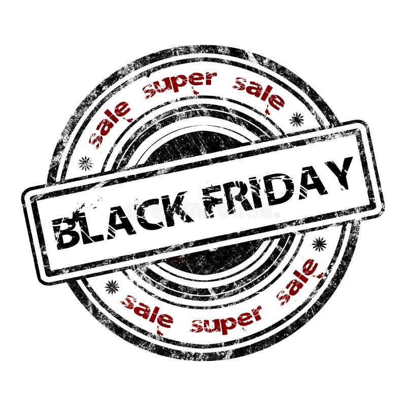 Sello de goma 'venta estupenda Black Friday del Grunge de la venta ' libre illustration