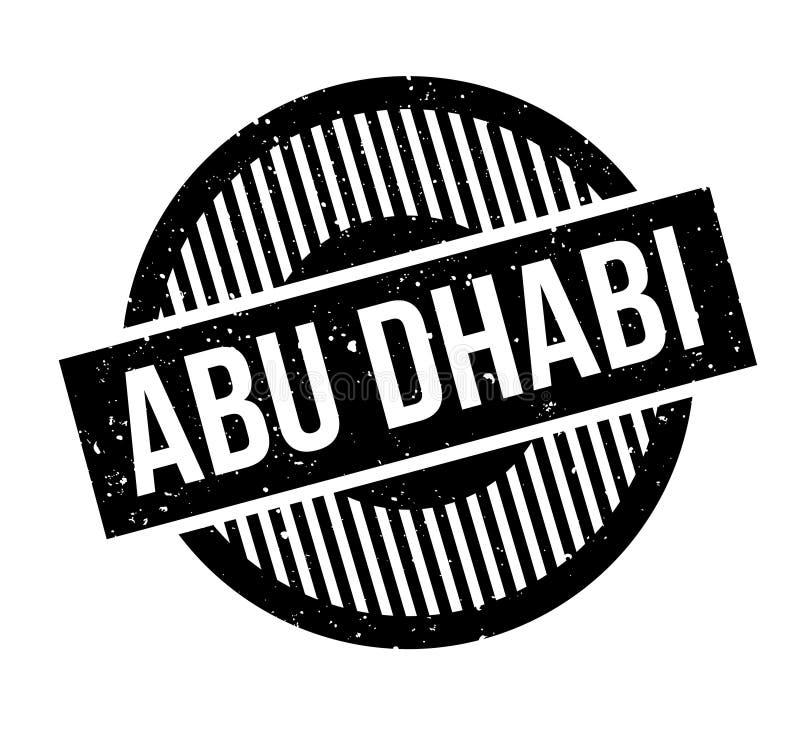 Sello de goma de Abu Dhabi ilustración del vector