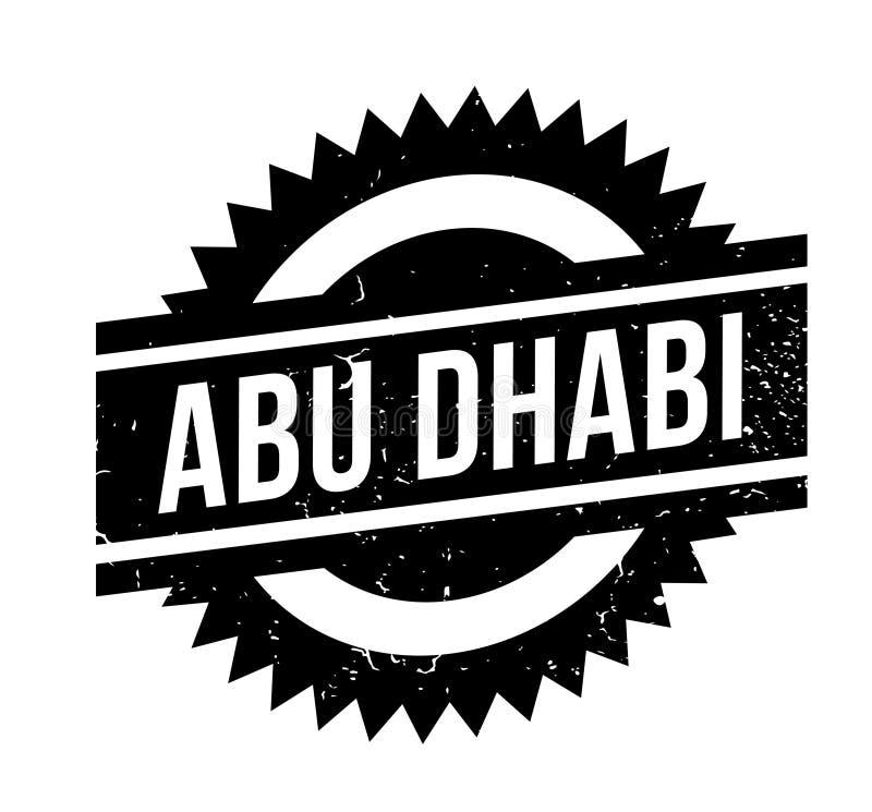 Sello de goma de Abu Dhabi stock de ilustración