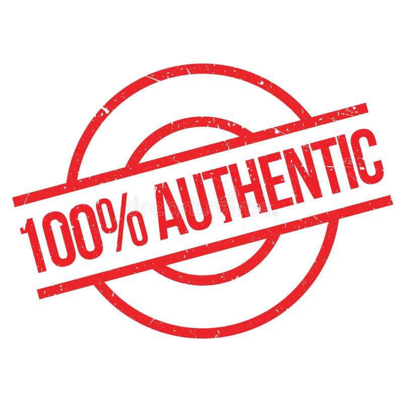 sello de goma auténtico del 100 por ciento ilustración del vector