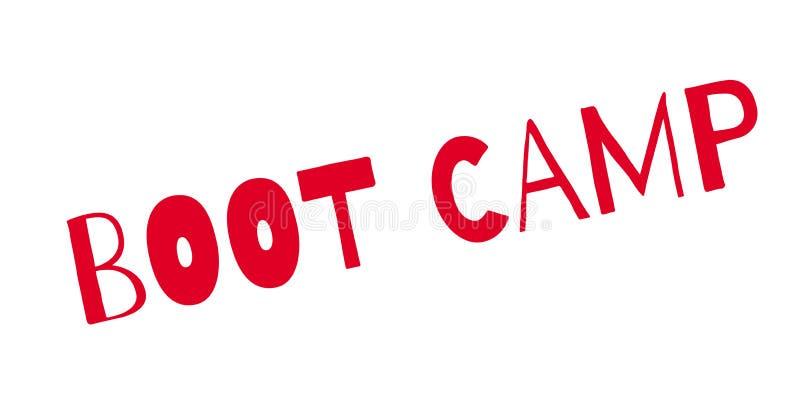 Sello de goma de Boot Camp ilustración del vector