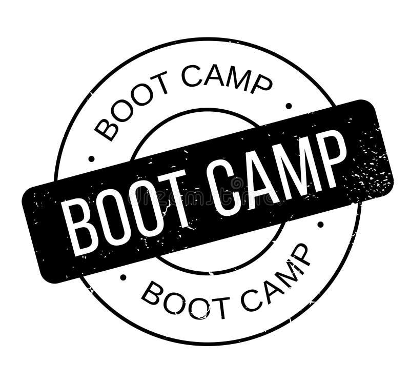 Sello de goma de Boot Camp stock de ilustración