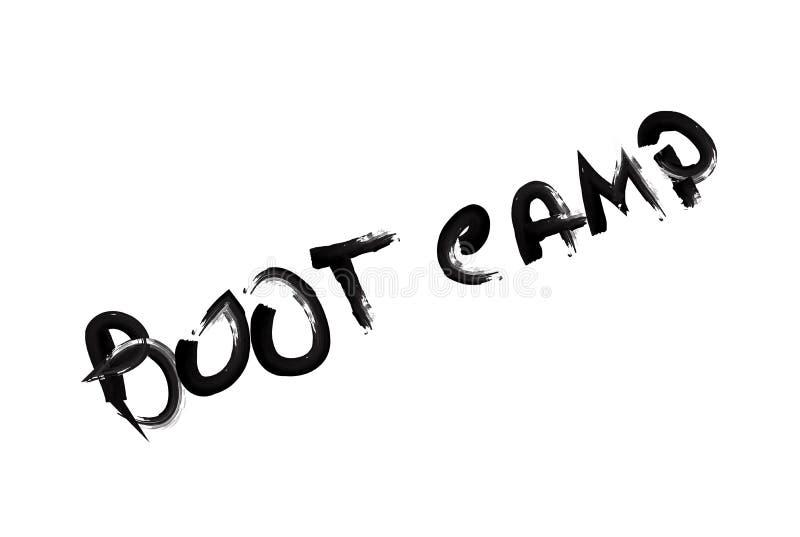 Sello de goma de Boot Camp Diseño del Grunge con los rasguños del polvo ilustración del vector
