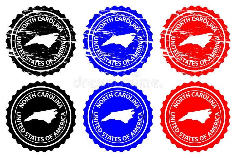 Sello de goma de Carolina del Norte ilustración del vector