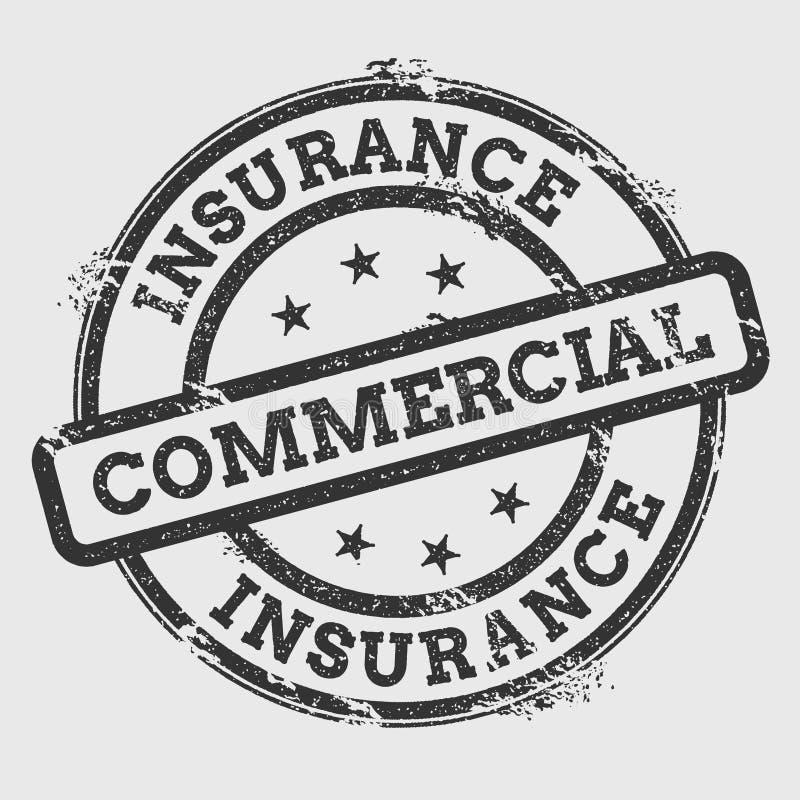 Sello de goma comercial del seguro encendido libre illustration