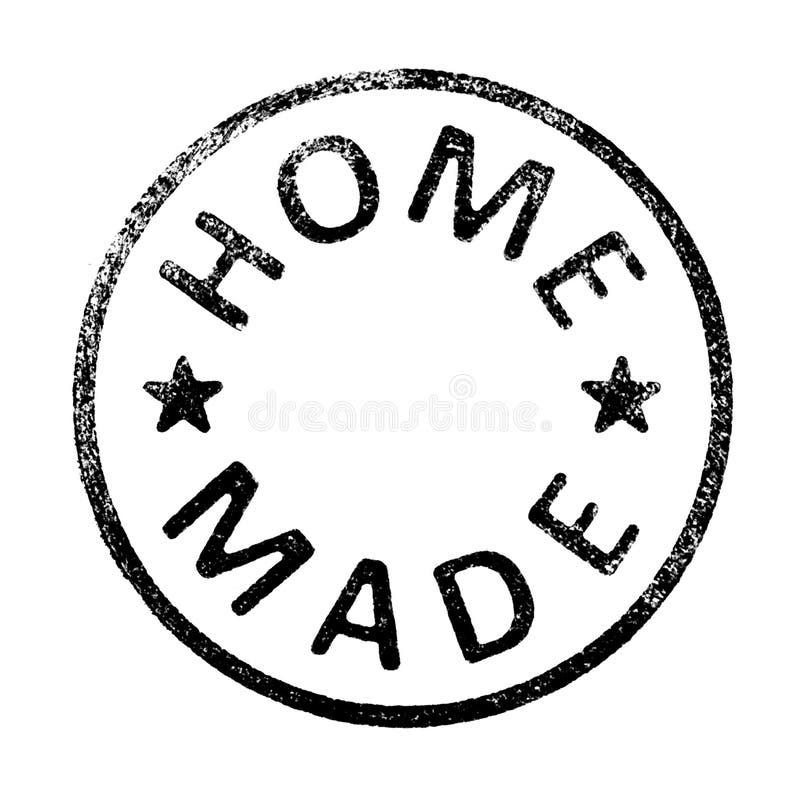 Sello de goma con el texto HECHO CASERO en blanco imagen de archivo