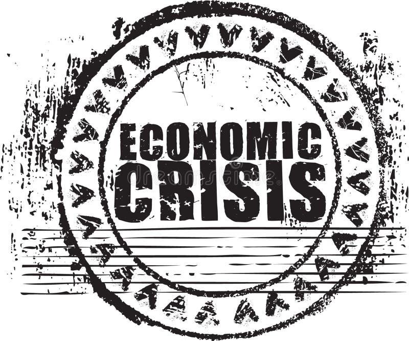 Sello de goma con la crisis económica del texto libre illustration