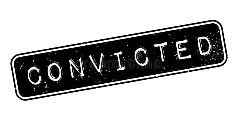 Sello de goma condenado ilustración del vector