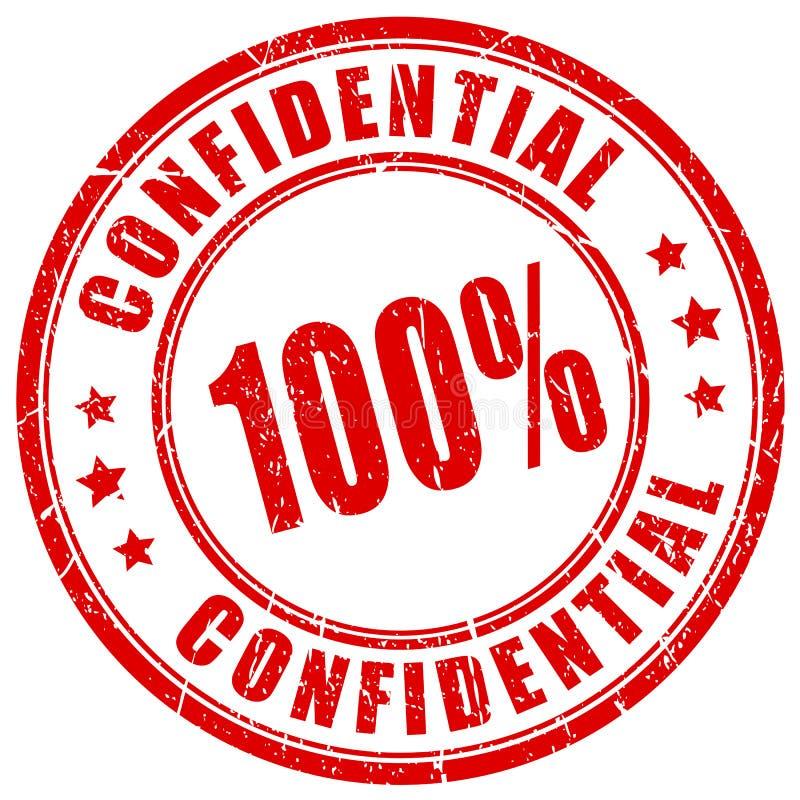 sello de goma confidencial 100 libre illustration