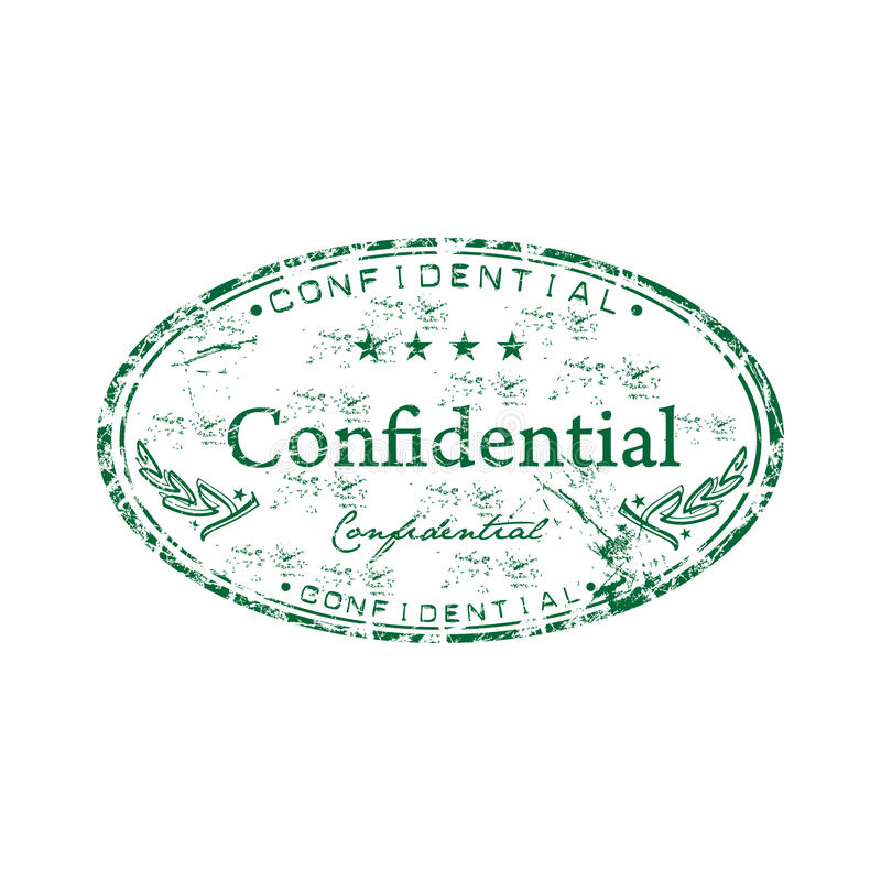 Sello de goma confidencial libre illustration