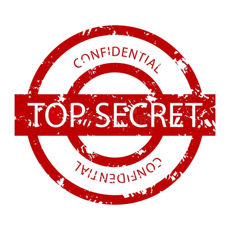 Sello de goma confidencial de alto secreto stock de ilustración