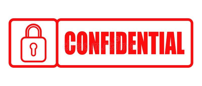 Sello de goma confidencial stock de ilustración