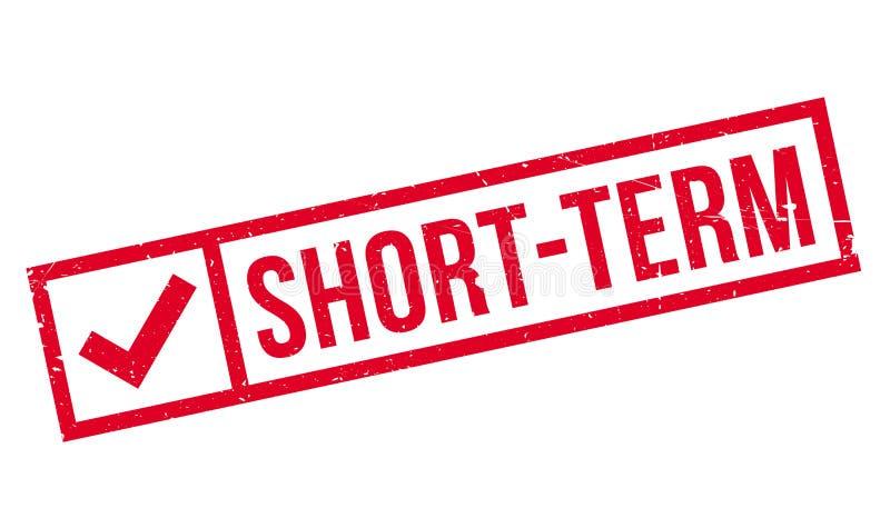 Sello de goma a corto plazo ilustración del vector