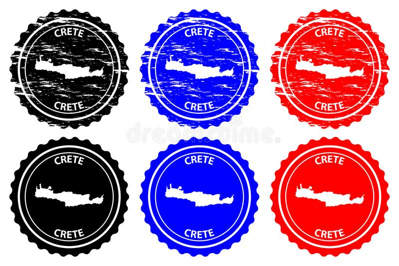 Sello de goma de Creta stock de ilustración