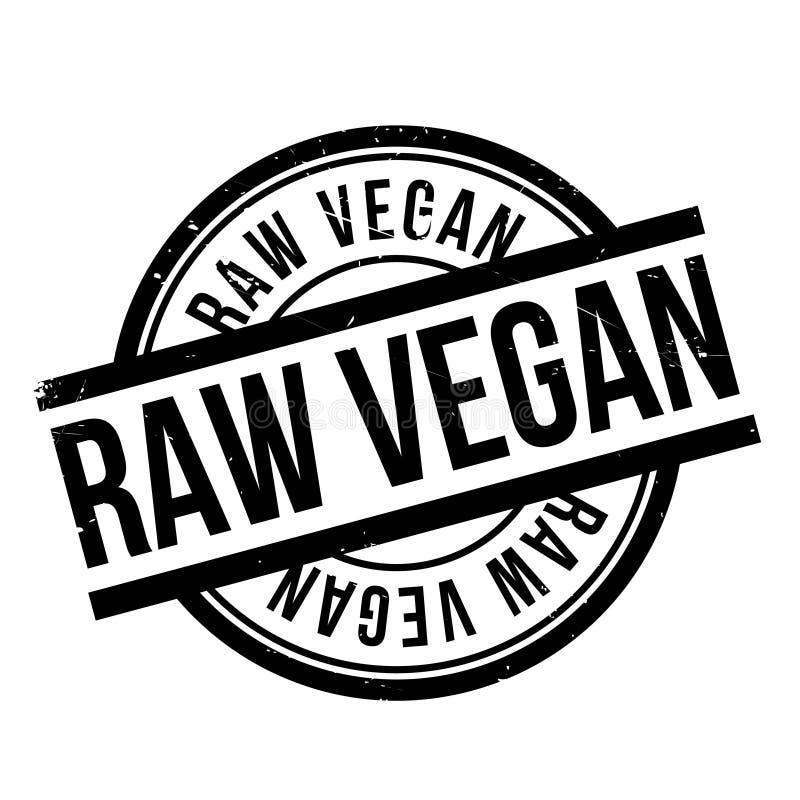 Sello de goma crudo del vegano ilustración del vector