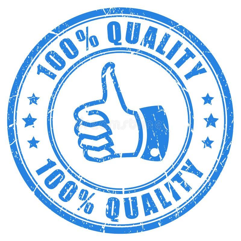 sello de goma de 100 calidades ilustración del vector