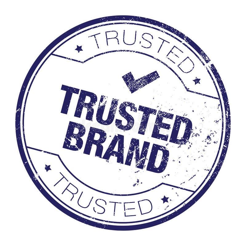 Sello de goma de confianza de la marca stock de ilustración