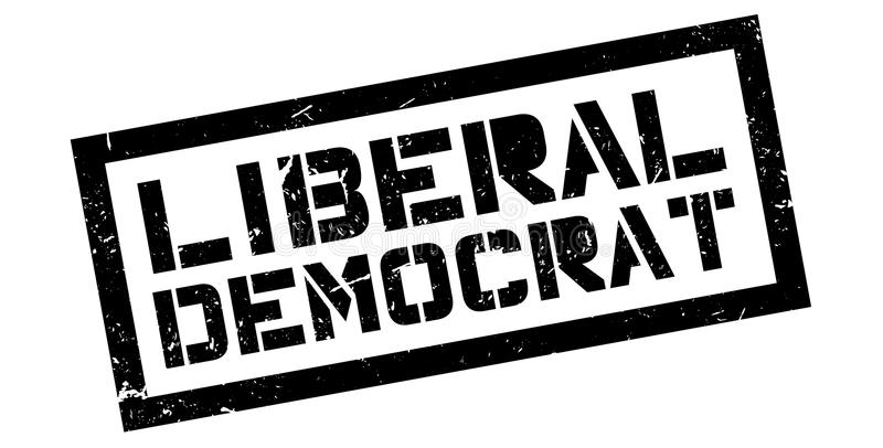 Sello de goma de Demócrata liberal fotografía de archivo