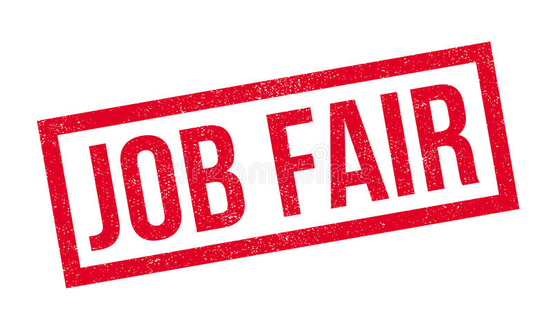Sello de goma de Job Fair libre illustration