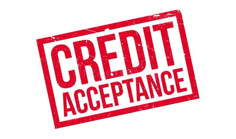 Sello de goma de la aceptación de crédito stock de ilustración