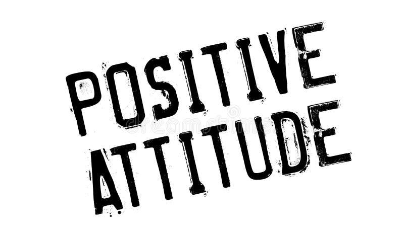 Sello de goma de la actitud positiva fotografía de archivo