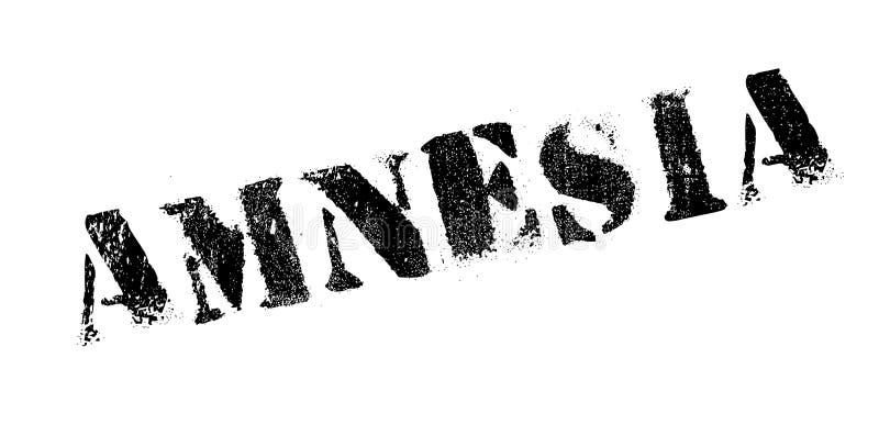 Sello de goma de la amnesia ilustración del vector