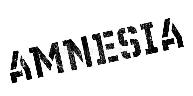 Sello de goma de la amnesia libre illustration