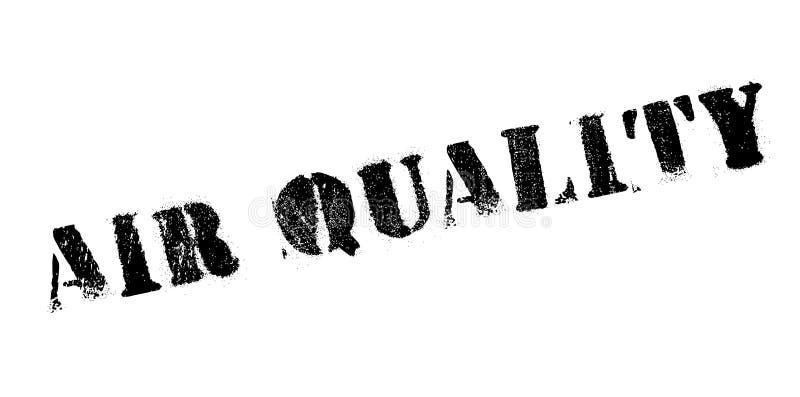 Sello de goma de la calidad del aire stock de ilustración