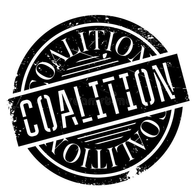 Sello de goma de la coalición stock de ilustración