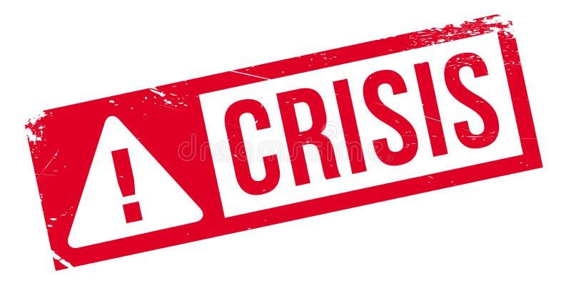 Sello de goma de la crisis ilustración del vector
