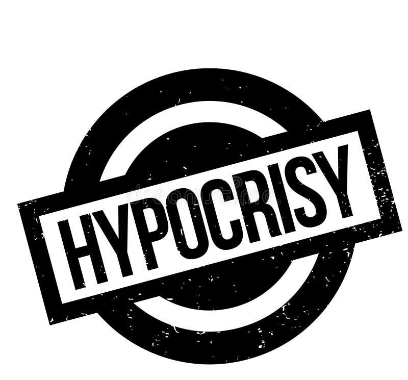 Sello de goma de la hipocresía stock de ilustración