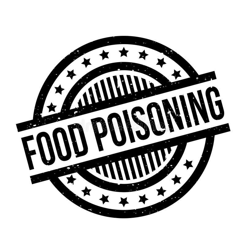 Sello de goma de la intoxicación alimentaria stock de ilustración