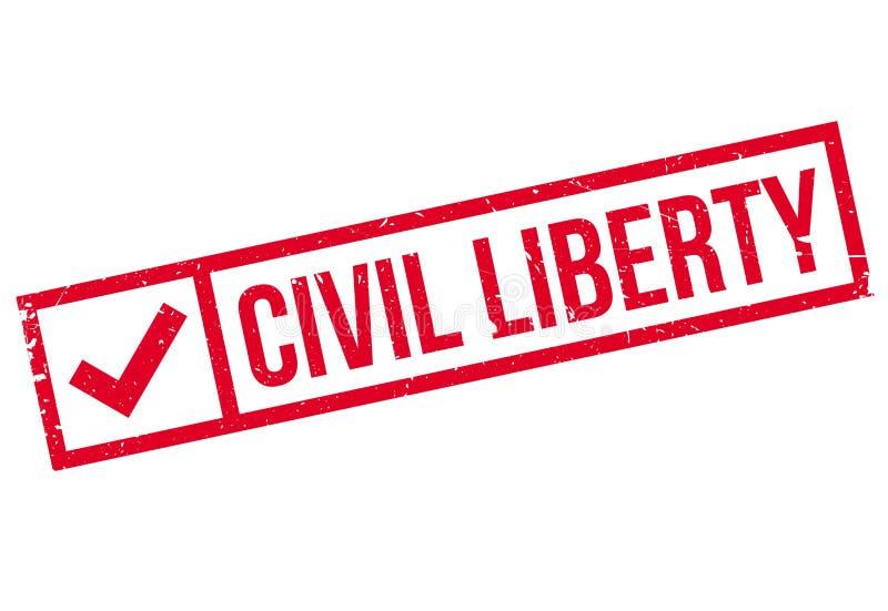 Sello de goma de la libertad civil libre illustration