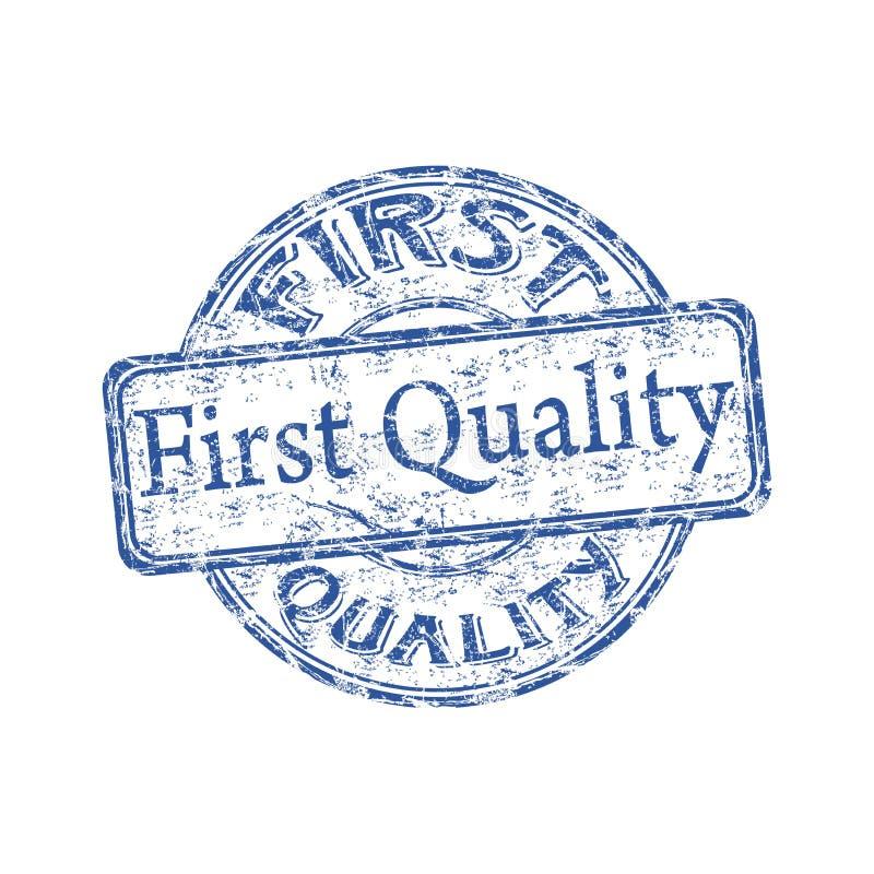 Sello de goma de la primer calidad ilustración del vector
